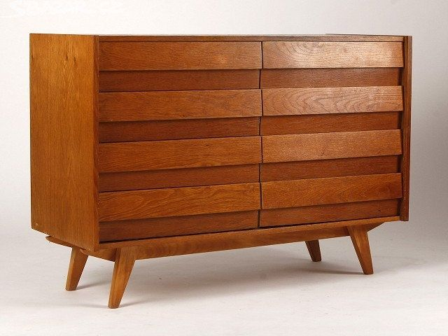 Excited to share the latest addition to my #etsy shop: Vintage Design Storage https://etsy.me/2qt9acl #furniture #brown #minimalist #livingroom #jirijiroutek #chestofdrawers #60s #sideboard #vintage