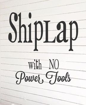 A tutorial on how to create a faux shiplap wall with no power tools