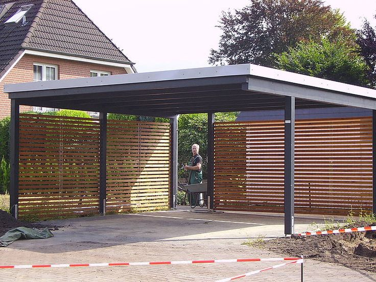 Carport doors carport with garage door empagroup net for Carport landscaping ideas