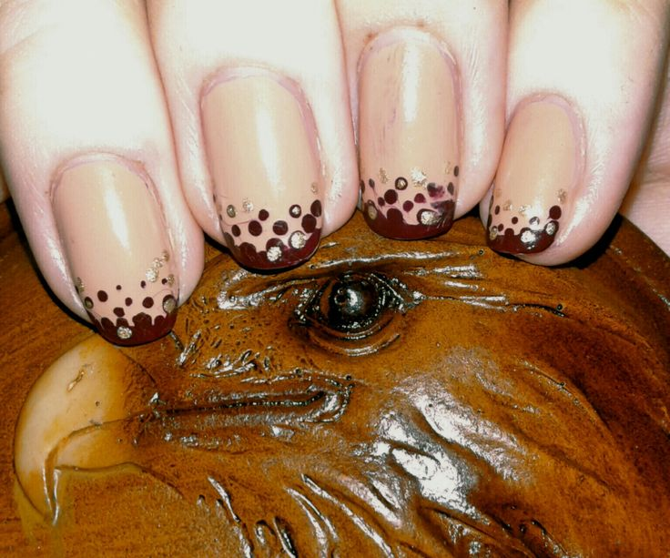 Nail. Art. Nail art. Eagle. Brown nail. Nude nail.