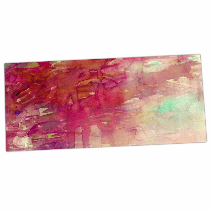 "Ebi Emporium ""Carnival Dreams 3"" Red Beige Desk Mat"
