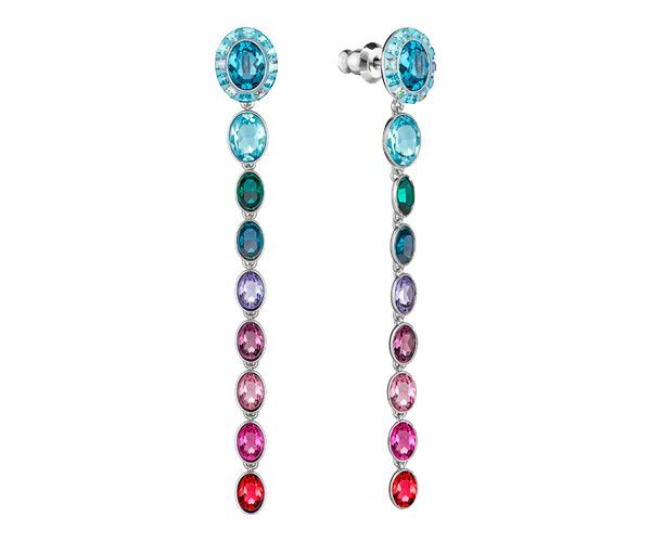 Two looks in one! Sparkling in a rainbow color palette inspired by aquatic flowers, the Eminence Long Pierced Earrings can be worn as simple studs or ... Shop now