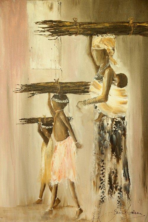 Walk to the Forest by Jen Adam | African Art Artwork | Fine Art Portfolio