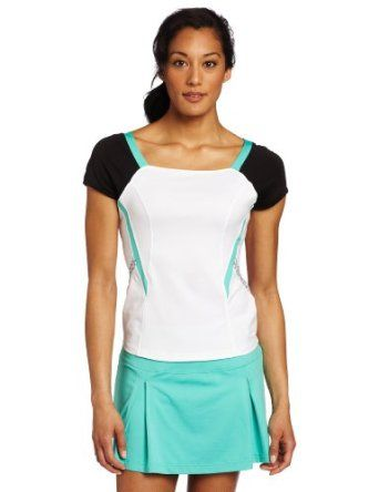 Bolle Women's Tennis Sea Breeze Cap Sleeve Shell Top (Black, X-Small) Bolle. $44.24