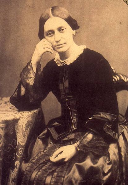 Clara Schumann. I have a portrait of her and her husband Robert in my living room. I adore them!