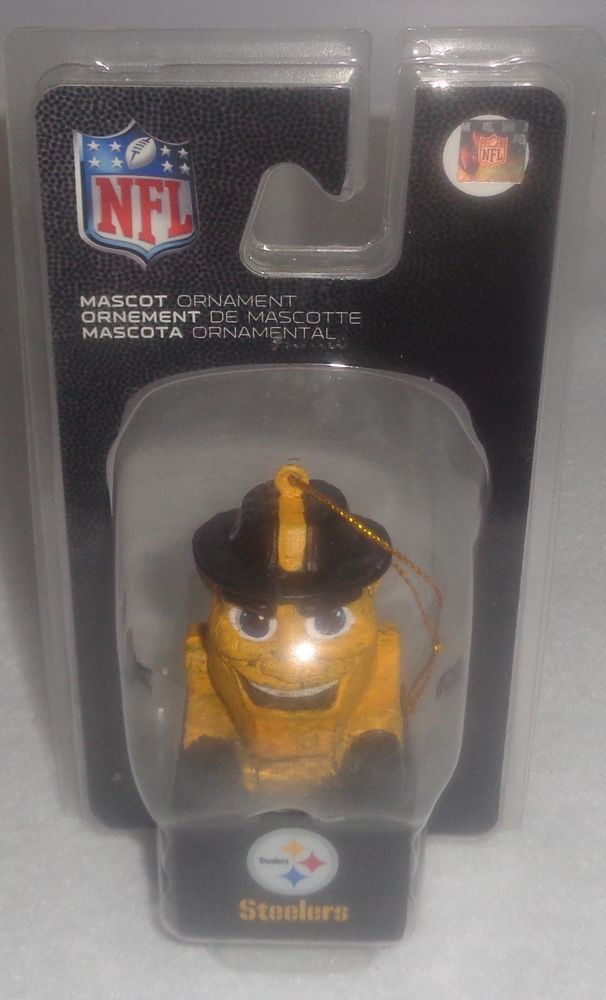 "Pittsburgh Steelers Mascot Steely McBeam Hanging 3.5"" Ornament NEW Christmas #TEAMSSPORTSAMERICA #PittsburghSteelers"