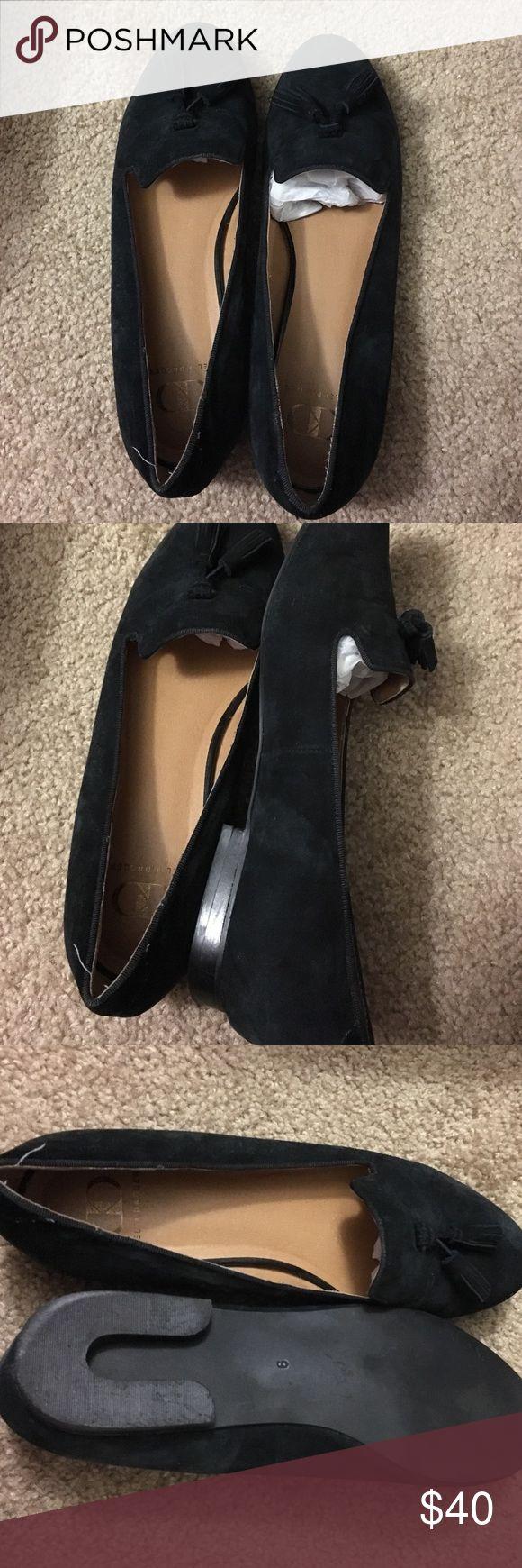 Kelsi Dagger black loafers Adorable black leather upper flats by Kelsi Dagger size 9. In excellent condition. Kelsi Dagger Shoes Flats & Loafers