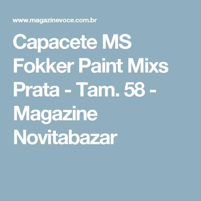 Capacete MS Fokker Paint Mixs Prata - Tam. 58 - Magazine Novitabazar