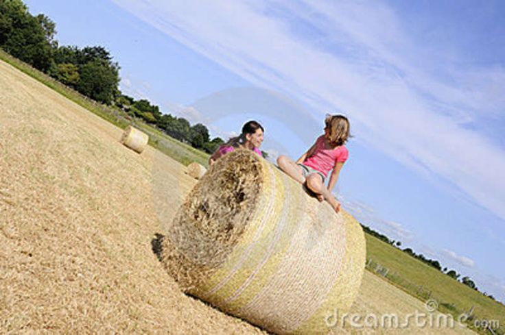 family picture hay bales | White People Having Fun On Hay Bales Royalty Free Stock Photography ...