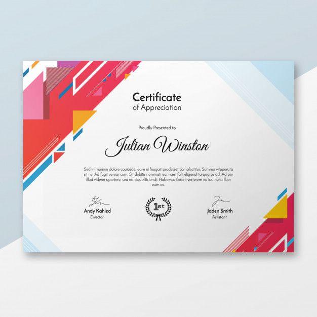 Download Modern Certificate Template For Free Kartu Nama Desain Pamflet Desain Brosur