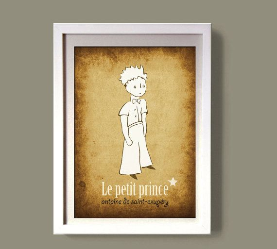 LE PETIT PRINCE art poster digital file nursery decor by COLOR4FUN