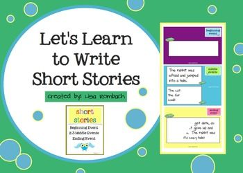 Teach your beginning writers how to write a simple story with my interactive SmartBoard lesson!  (.notebook file) $