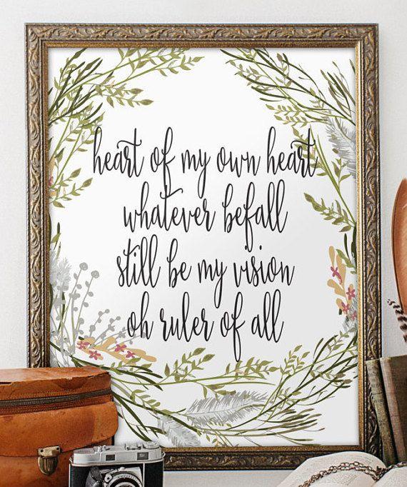 Bible verse printable nursery print wall art decor wedding for Bible verse decor