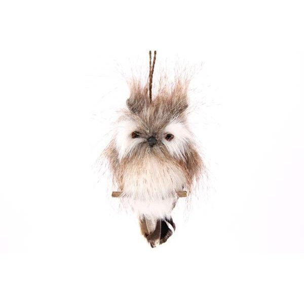 Hanging Christmas decorations, owl with hanger.