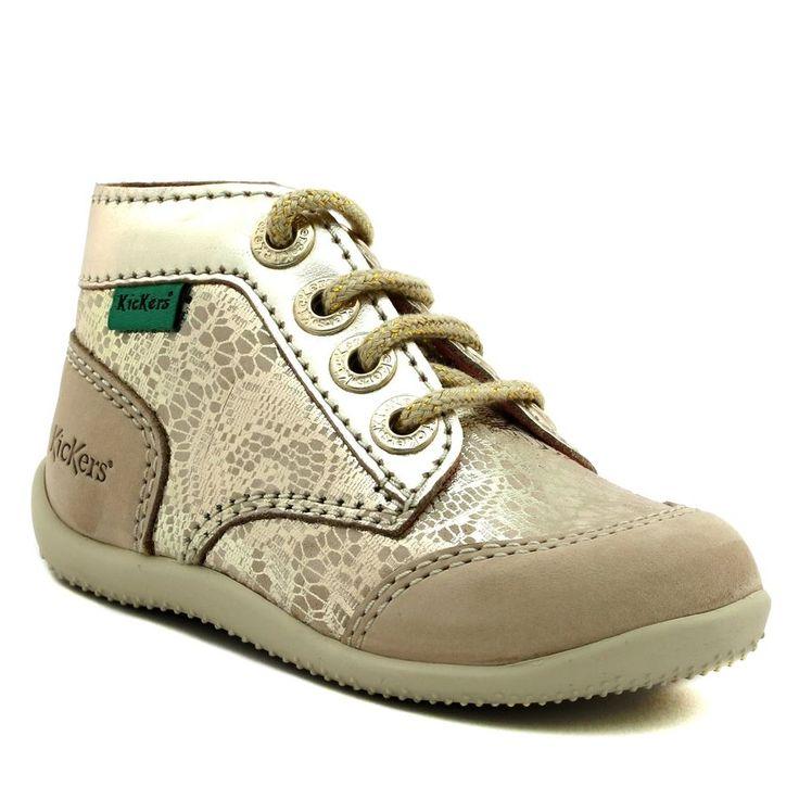 488A KICKERS BOETIK OR www.ouistiti.shoes le spécialiste internet #chaussures #bébé, #enfant, #fille, #garcon, #junior et #femme collection printemps été 2017