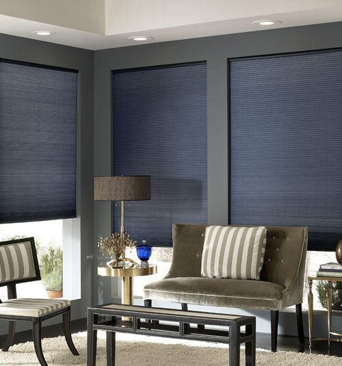 Tired of waking up to the sunlight in your eyes? Get the light blockage you want with the privacy you need. These Cellular Shades are modern, sleek, and sure to fit your budget.