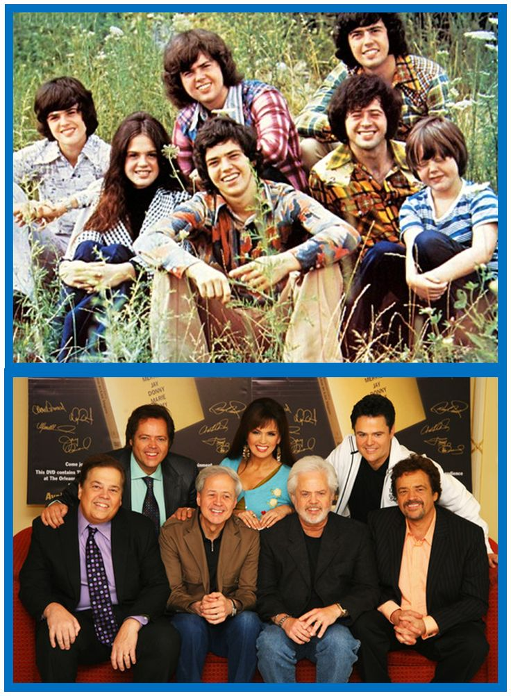 The Osmonds - Then and Now. The Osmonds are the All-American family music group with a long and varied career—a career that took them from singing barbershop music as children, to achieving success as teen-music idols, to producing a hit television show, and to continued success as solo and group performers as adults.