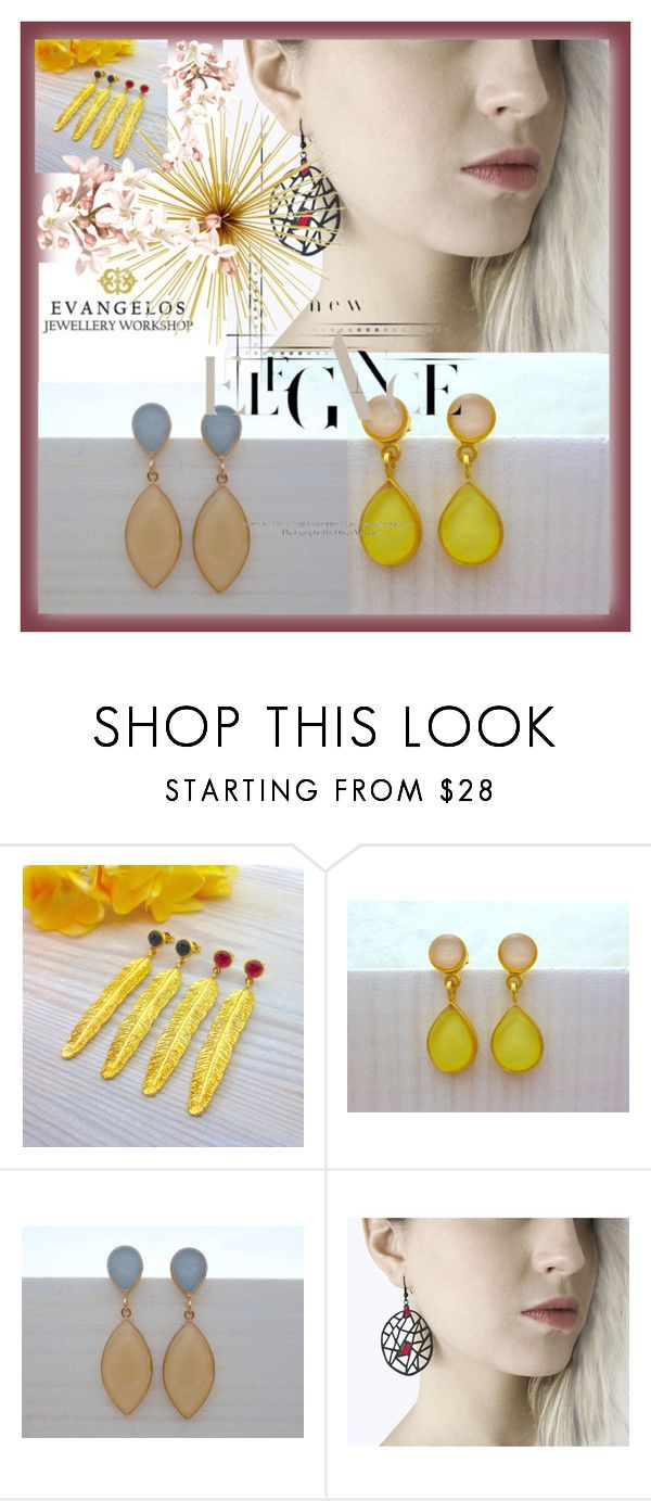 Evangelos Jewellery by sabahetasaric on Polyvore featuring Giallo