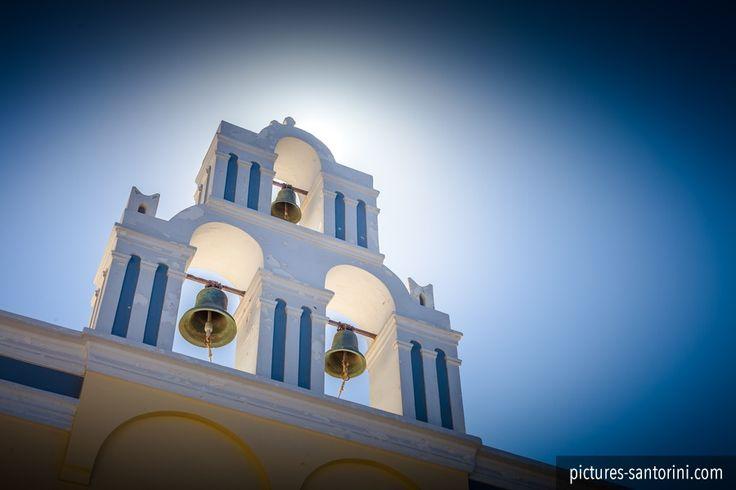 Bell tower in Firostefani, Santorini. #santorini #greece #firostefani