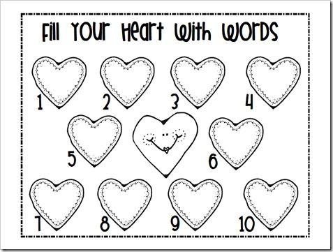 heart spelling or sight word center kindergarten pinterest activities words and spelling. Black Bedroom Furniture Sets. Home Design Ideas