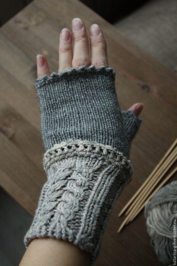 Купить Митенки вязаные - серый, митенки, митенки вязаные, митенки женские, уютный, вязание, бохо