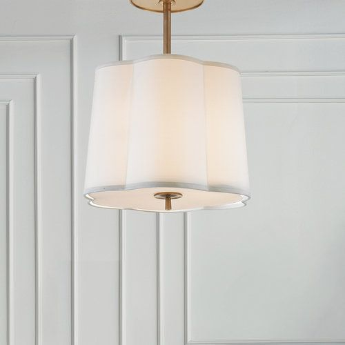 Simple Scallop Large Hanging Silk Shade