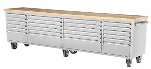 Mobil Tool Chest Workbench Stainless Steel Cart 96 Inch L 24 Lined Drawers Wood Working Top Six Caster Wheels Hyxion Brand Review https://bestoutdoorstorage.review/mobil-tool-chest-workbench-stainless-steel-cart-96-inch-l-24-lined-drawers-wood-working-top-six-caster-wheels-hyxion-brand-review/