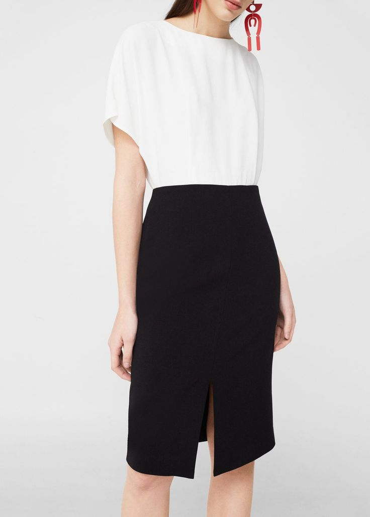 Contrasting dress -  Women | MANGO USA