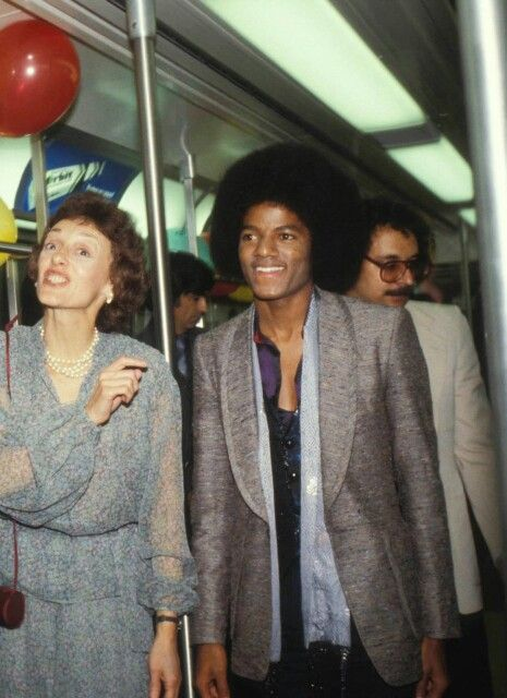Michael Jackson taking public transportation