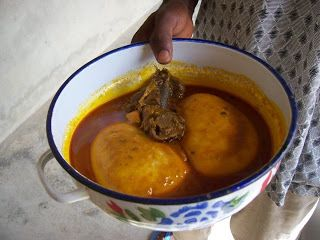 For several centuries, fufu has been in the Congolese culture. The fufu is a dish that is very important to Congolese because it is a staple food. This dish is composed of water and corn flour, sometimes mixed with cassava flour. It contains iron, calcium, and vitamin A, as it is a very substantial meal. Fufu is not only eaten in the Democratic Republic of Congo, but it is eaten in other countries in Africa.