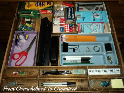 From Overwhelmed to Organized: Organizing Desk Drawers