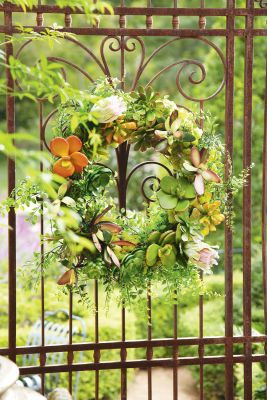 Succulent Wreath-Artificial