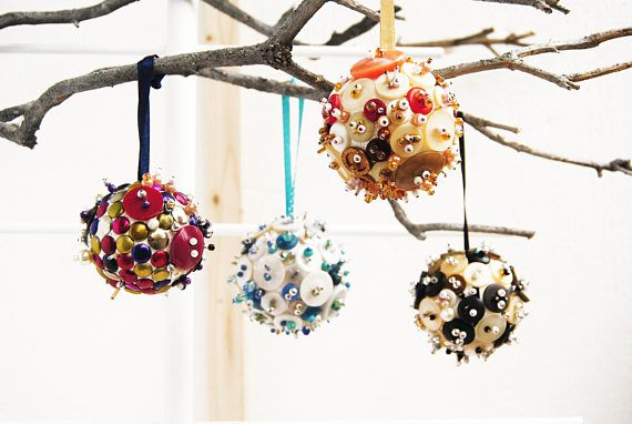 Ooak Mid Century Modern Christmas Tree Ornaments Corporate