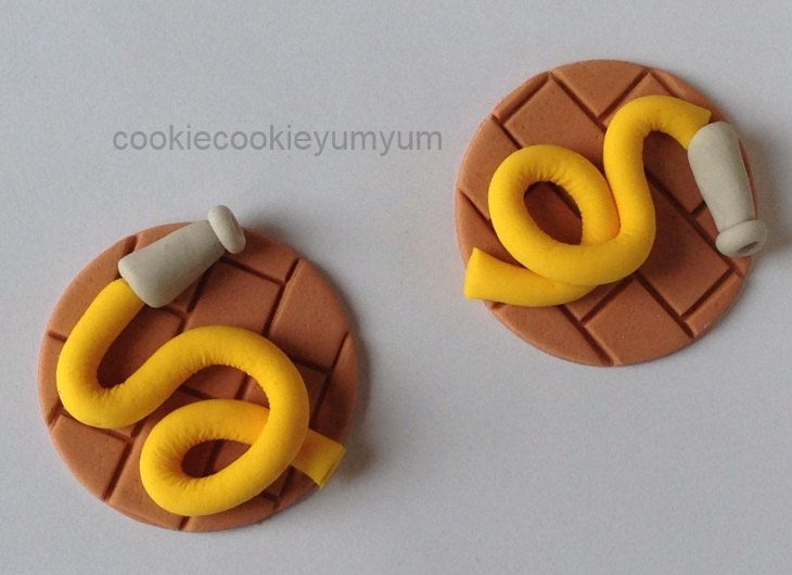 12 edible FIRE HOSE FIREMAN cupcake topper decoration party wedding anniversary birthday cookie engagement party sam cake firemen dept by cookiecookieyumyum on Etsy