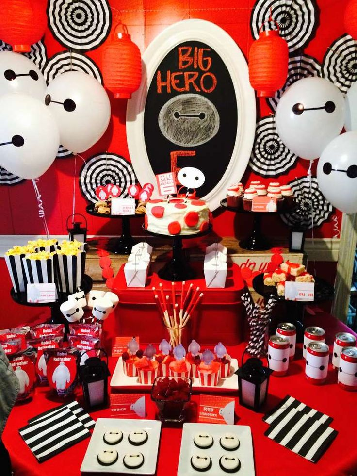 Big Hero 6 birthday party dessert table! See more party planning ideas at CatchMyParty.com!