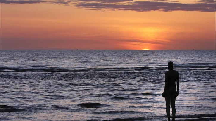 'Another Place' by Antony Gormley.  Crosby Beach.