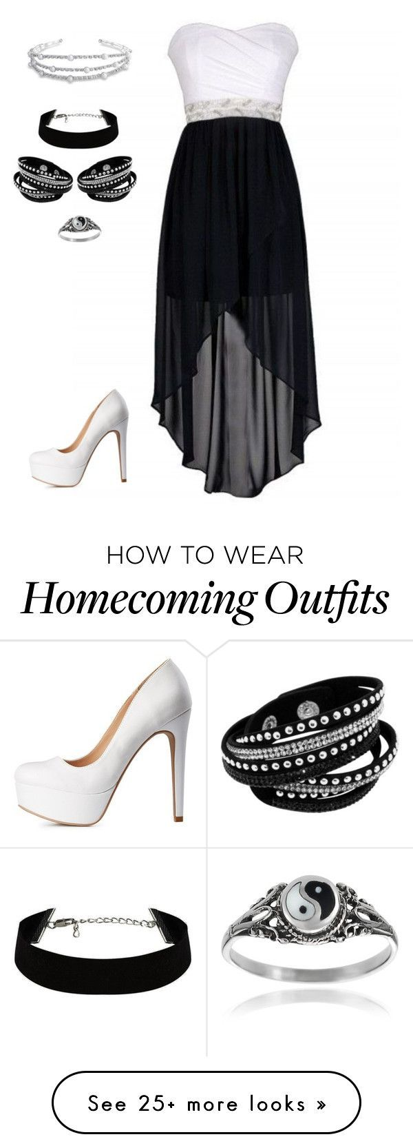 """""""Black & White"""" by lucy-wolf on Polyvore featuring Journee Collection, Charlotte Russe, Bling Jewelry, women's clothing, women, female, woman, misses and juniors"""