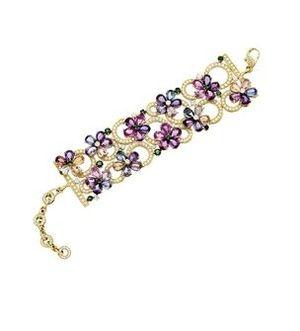 bulgari jewelry sapphire u0026 diamond bracelet mounted in yellow gold