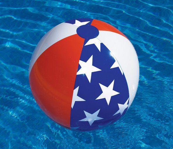 "22"" PATRIOTIC Panel Ball BEACH Swimming Pool GAME Water Fun Inflatable USA 90016 #Swimline"