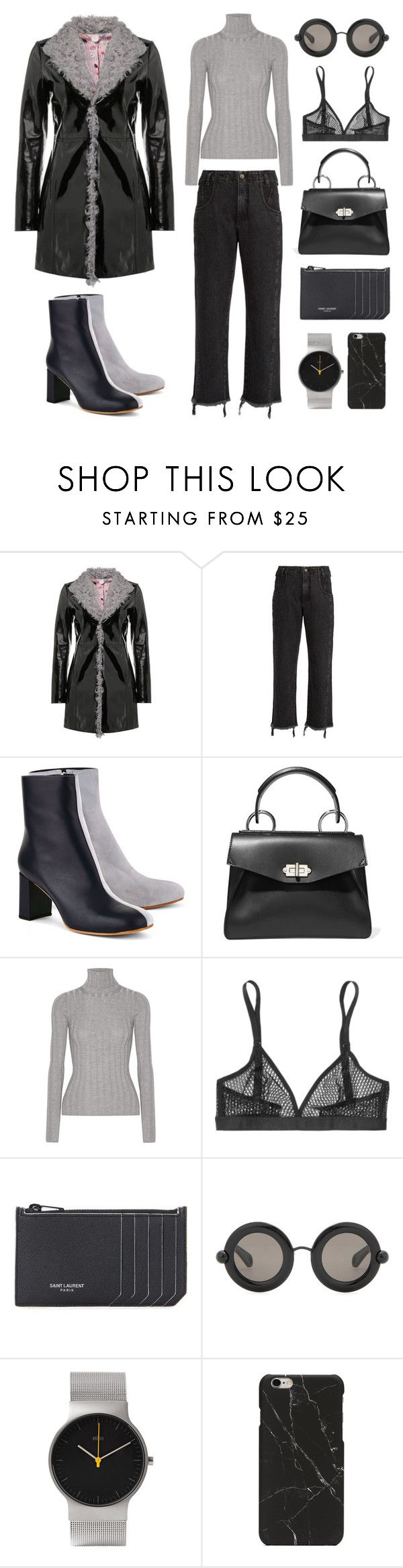 """Unbenannt #792"" by fashionlandscape ❤ liked on Polyvore featuring Rachel Comey, Maryam Nassir Zadeh, Proenza Schouler, Acne Studios, Wolford, Yves Saint Laurent, Christopher Kane and Braun"