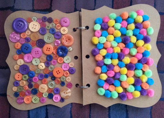 Fatto a mano colorato sensoriale libro per bambini. Grande divertimento per qualsiasi bambino.