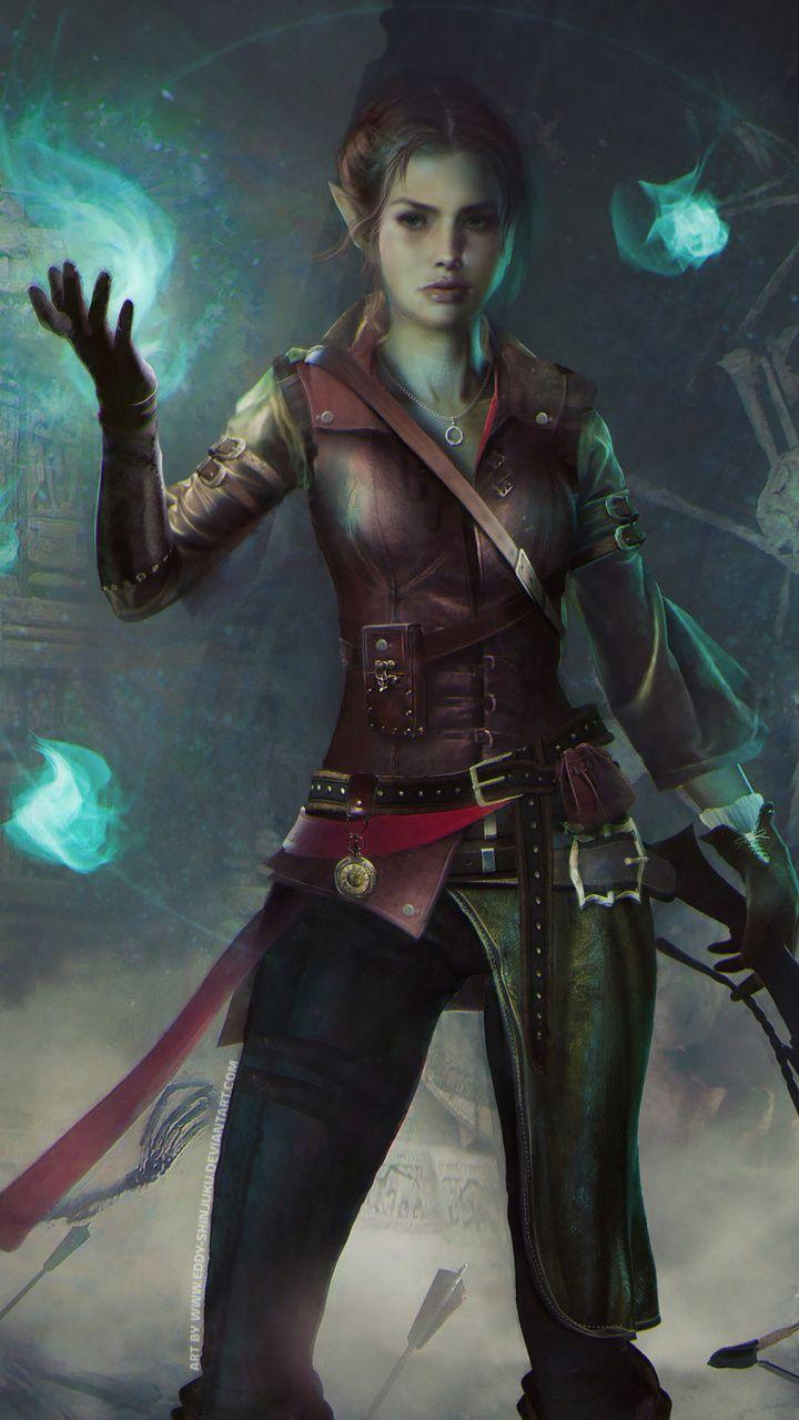 Warrior, girl archer, Dungeons Dragons, 720x1280 wallpaper ...