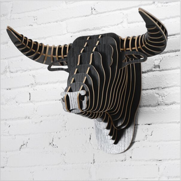 Cheap 1 Unidades 9 colores creativo animales de madera de cabeza artesanías para arte decoración colgante de pared de madera cabeza de toro DIY ilustraciones, Compro Calidad Wood Crafts directamente de los surtidores de China: 1 set  2016 New Home Decoration Crafts Wooden Deer Head For Art Home Animals Head Wall Hanging DecorationUSD 41.80/set1