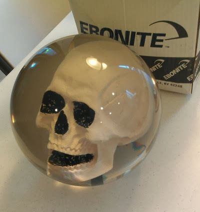 Ebonite skull bowling ball...Hopkinsville, Kentucky