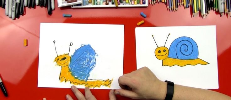 How To Draw A Snail (for young artists) - Art for Kids Hub