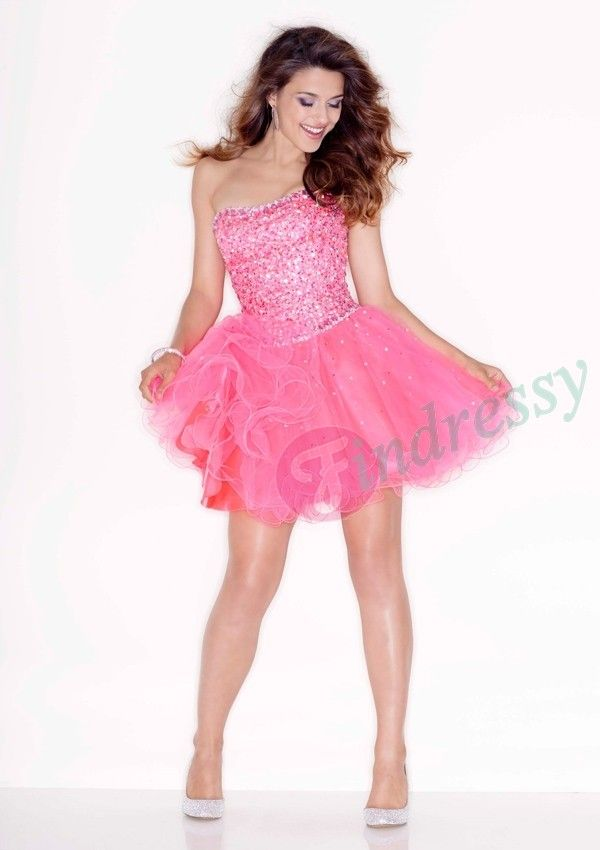 Perfecto Vestidos Cortos Secundaria Prom Festooning - Ideas de ...