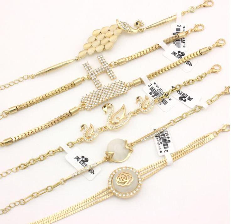 OMH wholesale gold jewelry fashion Animal shape alloy plating copper women's bracelet SZ77