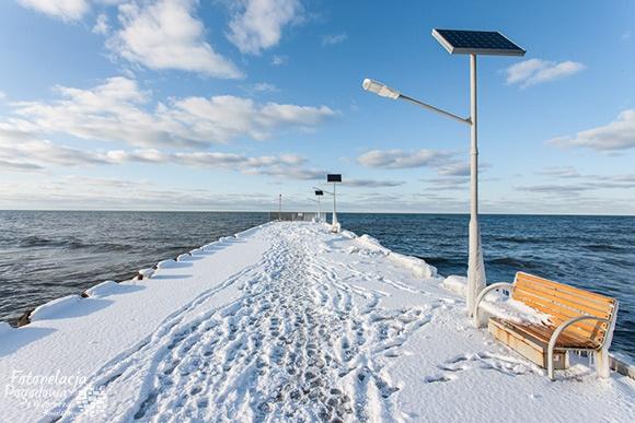 Zima w Niechorzu   fotorelacja.com