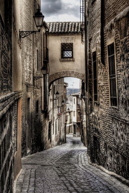 Toledo, Spain - Walking these steep and winding streets on a hot summer day in 2010 kicked my @$$