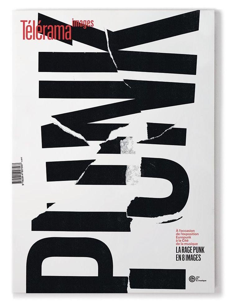 Punk - Commercial Type x Télérama collab #typography